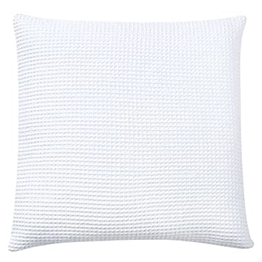 PHF Waffle Euro Sham Cover 100% Cotton 2-Pack No Filling 26  x 26  White
