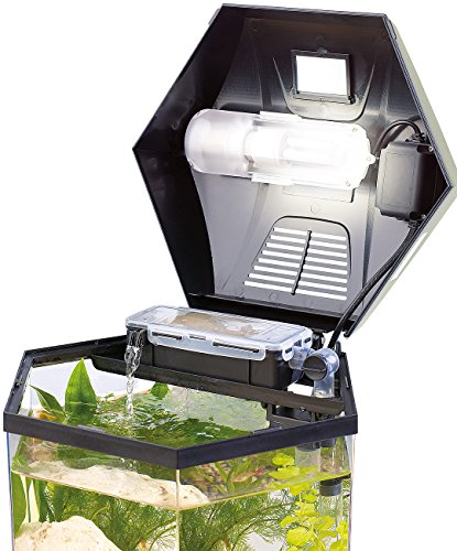 "infactory Beleuchtetes Panorama-Aquarium ""Hexagon"", Komplett-Set, 19 l - 5"