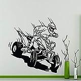 wZUN Autocollant Mural de Course Garage Voiture Sports extrêmes Vinyle Sticker Mural Famille Enfants Chambre décoration étanche Mural 50X52 cm