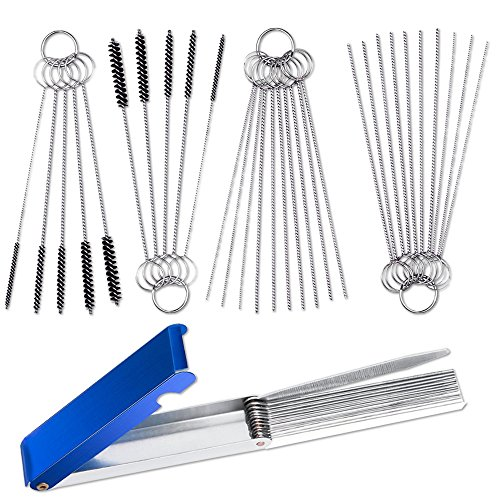 Set of 3 Carburetor Carbon Jet Cleaner, AIFUDA 13 Wire Torch Tip Cleaner Tool and 2 pcs of 10 Needles 5 Brushes Cleaning Tool Kit for ATV Welder Motorcycle