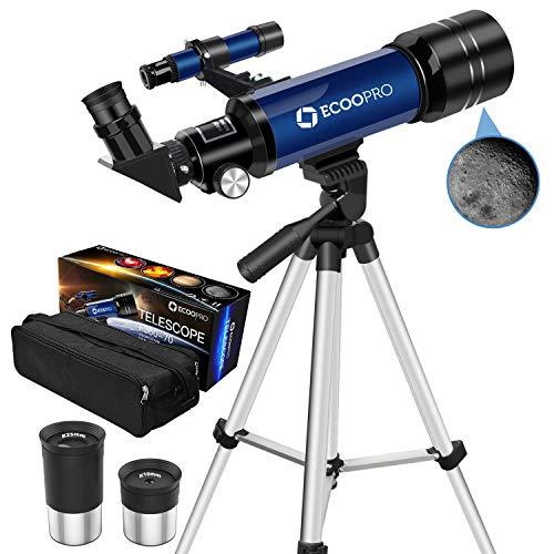 Telescopio para niños Principiantes, telescopio Refractor de astronom