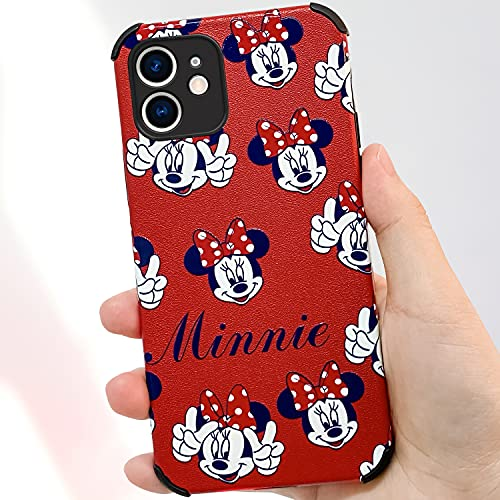 iPhone 12 Case, Cute Slim Fit Cartoon Minnie Mouse Case, Full-Body Reinforced Corners Shockproof Bumper Soft TPU Protective Case Compatible with iPhone 12 6.1 inch (Minnie Mouse)