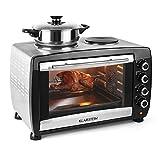 Klarstein Omnichef Mini-four (deux plaques, 45L, 2000W, régulateur température: max. 230 °C, accessoires grill, tournebroche,...