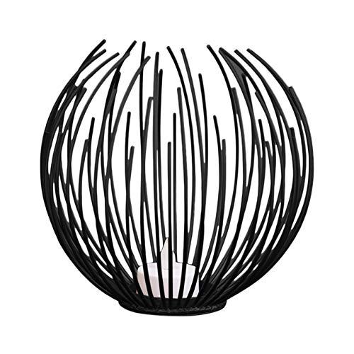 Doolland Geometrische Kerzenhalter aus Eisen, Metall, Handwerk, Haus, Dekoration, Kerzenhalter für Zuhause, Jubiläum, Arrangement (schwarz)