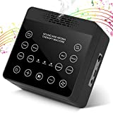 White Noise Sound Machine with Touch Screen and Essential Oil Diffuser, Sleeping Noise Maker for Baby Kids Adult, 3 Timer, 10 High-Fidelity Sounds for Home Office Gift Valentine Day