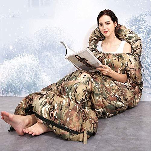 Durable, enveloppe perméable à l'air robe de couchage à capuche matelas d'air portable chaud lumière camping, activités de randonnée et de plein air, A, 1500 g, Taille Nom: 1800 g Nom de la couleur: A