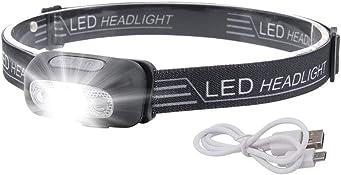 LED Sensor Headlamp, Headlamp Flashlight Rechargeable Headlamp 500 Lumens XPG2 Headlight for Running Biking Fishing...