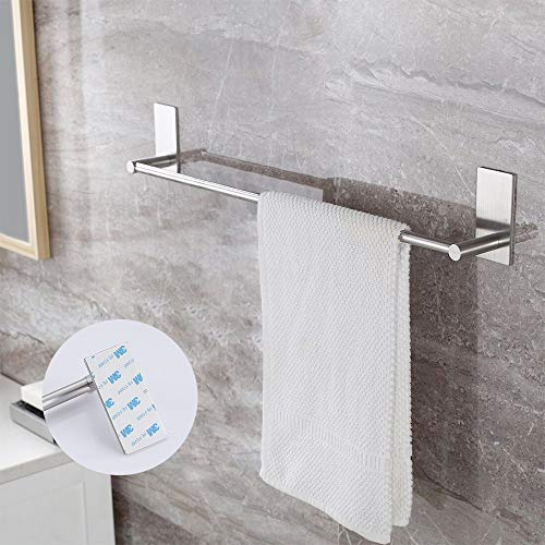 KES Bathroom Lavatory Self Adhesive Single Towel Bar 12-Inch, Brushed SUS304 Stainless Steel, A7000S30-2