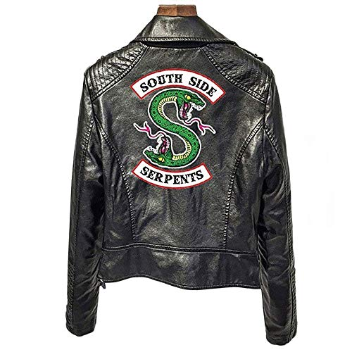 XXW Riverdale PU-Leder-Jacken Damen Southside Serpents Moto Biker Coat Cosplay