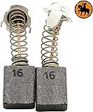 Balais de Charbon pour HITACHI DU-PN2 marteau -- 7x13x17mm -- 2.8x5.1x6.7'' -- Avec arrêt automatique