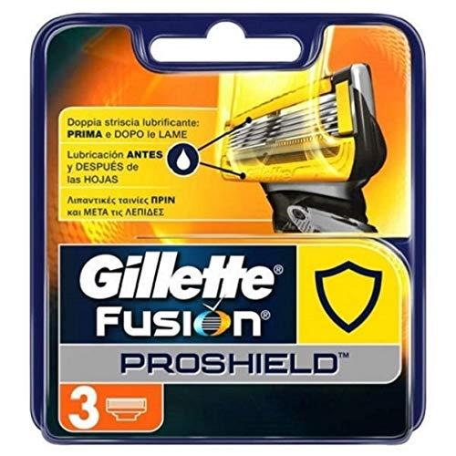 Gillette Fusion ProShield Cuchillas de Afeitar Hombre, Paquete de 3 Cuchillas de Recambio