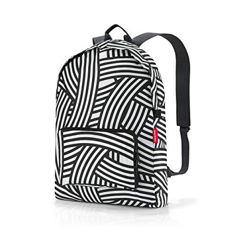 reisenthel mini maxi rucksack, Tragetasche, Backpack, Freizeitrucksack, Einkaufstasche, Polyestergewebe, Zebra, 14 L, AP1032