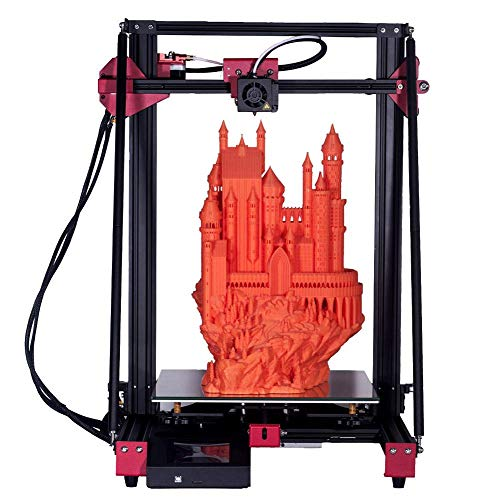 Imprimante 3D, machine d'impression 3D haute précision de buse AC115-240V 350W 0,2-0,8 mm avec écran tactile LCD, reprise de l'impression grand volume de construction 300x300x400mm(EU Plug)