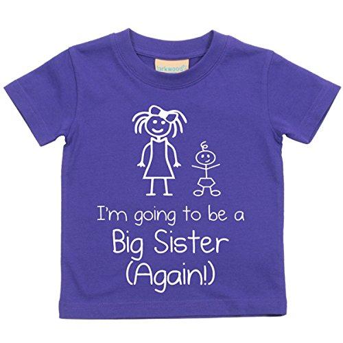60 Second Makeover Limited I'm Vais être BIG Sister Again Violet T-Shirt Bébé Tout-Petit Enfants Disponible en Tailles 0-6 Mois pour 14-15 Ans Nouveau bébé Sœur Cadeau - Pourpre, Pourpre, 9-11 Ans