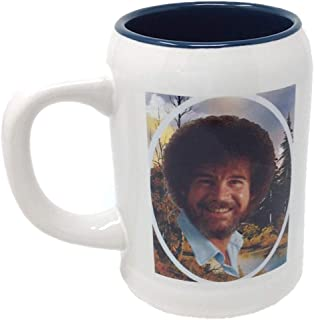 Bob Ross This is Your World White Beer Stein Coffee Mug 20 Ounces
