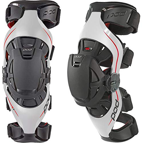 POD Unisex-Adult K4 Knee Brace (Gray/Red, Medium/Large)
