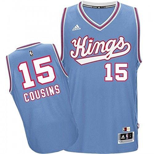 adidas Demarcus Cousins Sacramento Kings Hardwood Classics Swingman Jersey (XXL) Light Blue