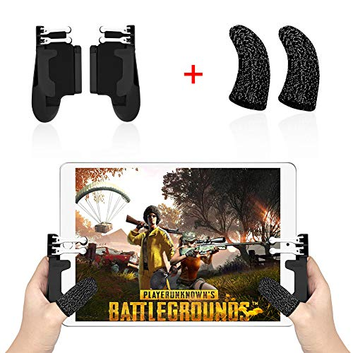 YaLiu 4 Triggers Mobile Game Controller for iPad,Sensitive Shoot Aim Gamepad Trigger for PUBG/Knives Out, Adjustable Gaming Handgrip for 4.5-12.9 inch Tablet & Android iOS Phone