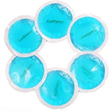 LotFancy Reusable Gel Ice Pack for Hot Cold Therapy, 6PCS Small Heating Cooling Pad for Tired Eyes, Breastfeeding, Wisdom Teeth, Kids Injuries, Sinus Relief, First Aid, Muscle & Joint Pain, Arthritis