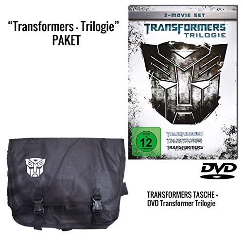 Transformers - Trilogie (3 DVDs) + Transformers Umhängetasche / Messenger Bag Schwarz