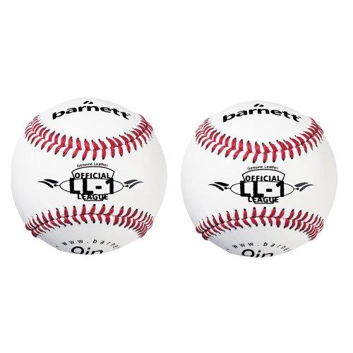 "LL-1 Baseball Ball Wettkampf und Training, Grösse 9""(inch), Farbe weiß, 2 Stück"