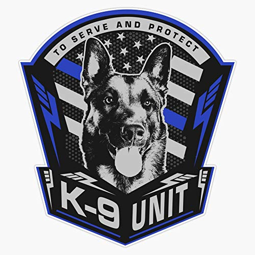 K9 Unit - Malinois Belgian Shepherd -Mechelaar Vinyl Waterproof Sticker Decal Car Laptop Wall Window Bumper Sticker 5'