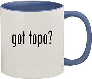 got topo? - 11oz Ceramic Colored Inside & Handle Coffee Mug, Cambridge Blue