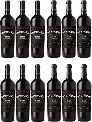 Finca Las Moras Los Intocables Black Malbec Rotwein veganer Wein trocken Argentinien (12 Flaschen)
