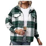 Berimaterry chaquetas mujer corta de otoño invierno chaqueta moto para mujer top con estampado de Cuadros Escoceses Abrigos moda manga largo Cárdigans Solapa moda Rebecas baratos jaket mujer