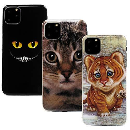 Vogu'SaNa - Funda de Silicona para iPhone de 6,5 Pulgadas (2019), diseño de Animales, Funda Fina para móvil de niña, Carcasa Suave, Funda de TPU