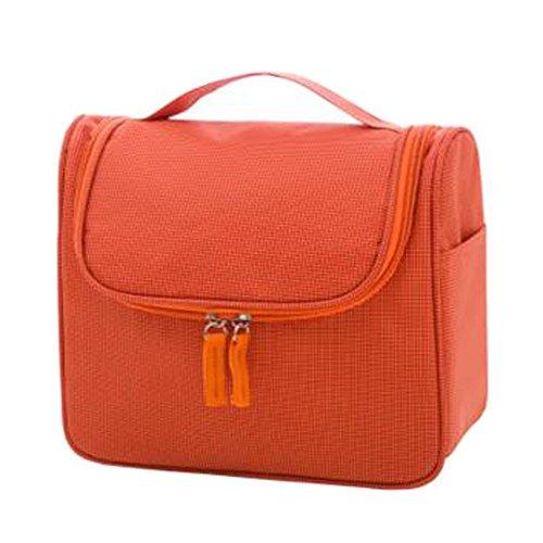 Portable sacs de maquillage de grande capacité sac cosmétique boîte de maquillage, Orange