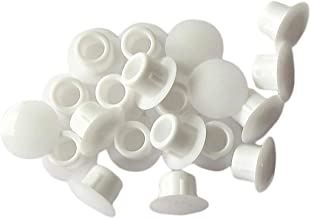 Hettich HKB 62428 Afdekdoppen om in te drukken, Ø 10 mm, kunststof wit, 20 stuks, 19 x 8 mm
