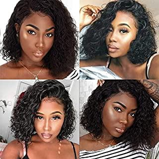 13x6 Lace Frontal Wigs Water Wave Human Hair Glueless Full Lace Wig Pre Plucked Hair Line 150% Density with Baby Hair for Black Women (10 inch, 13x6 lace front wig)