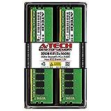 A-Tech 32GB (2x16GB) DDR4 2666MHz DIMM PC4-21300 UDIMM Non-ECC CL19 1.2V 288-Pin Desktop Computer RAM Memory Upgrade Kit