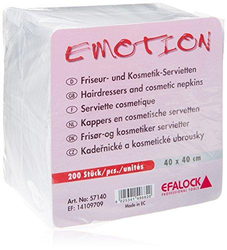 Efalock Professional Emotion Friseur- und Kosmetikservietten 40 cm x 40 cm, 1er Pack, (1x 200 Stück)
