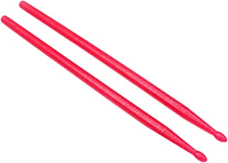 Generic Professional Drumsticks 5A, 1 Pair, Made of Nylon, Red, Drum Stick Drum