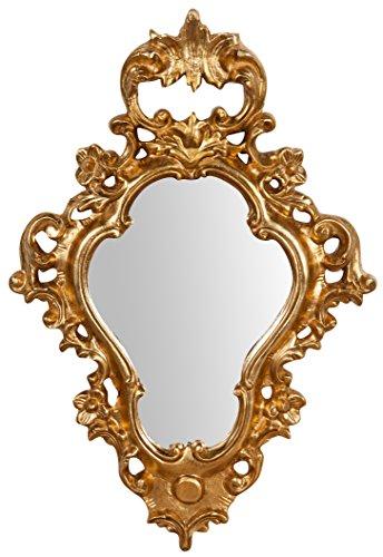 Biscottini - Espejo pared madera acabado hoja oro