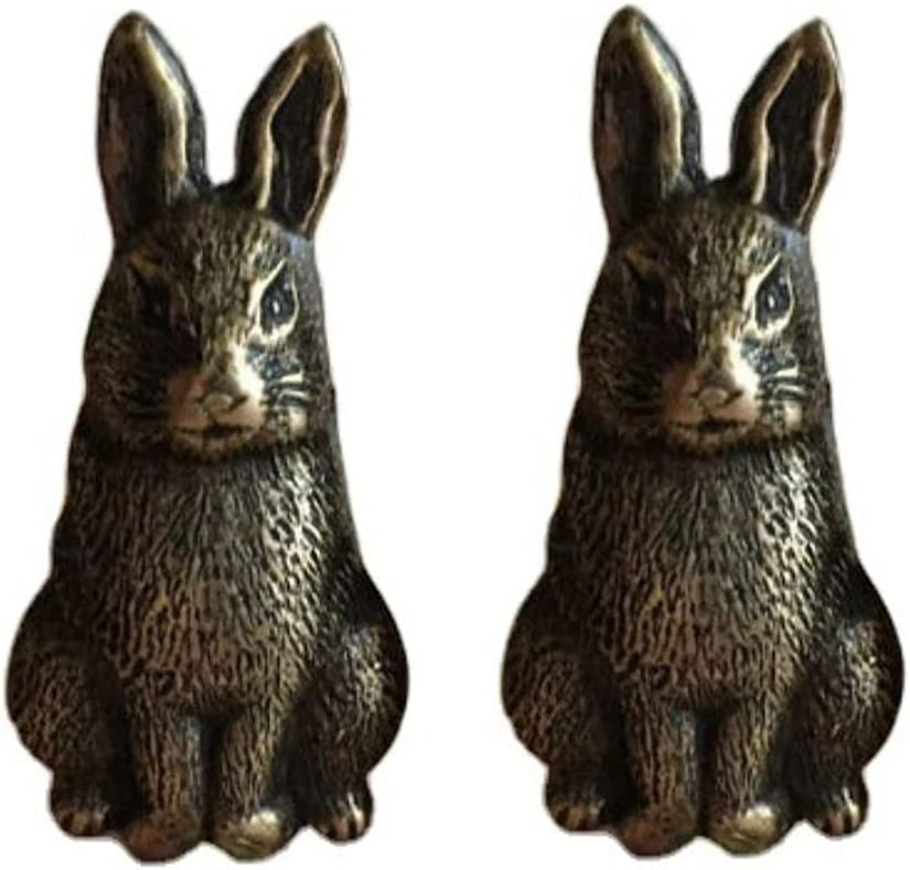 BO LAI DE Men's Cufflinks Pure Tin Handmade Vintage Rabbit Cufflinks Shirt Cufflinks Suitable for Business Activities, Conferences and Dances, with Gift Box