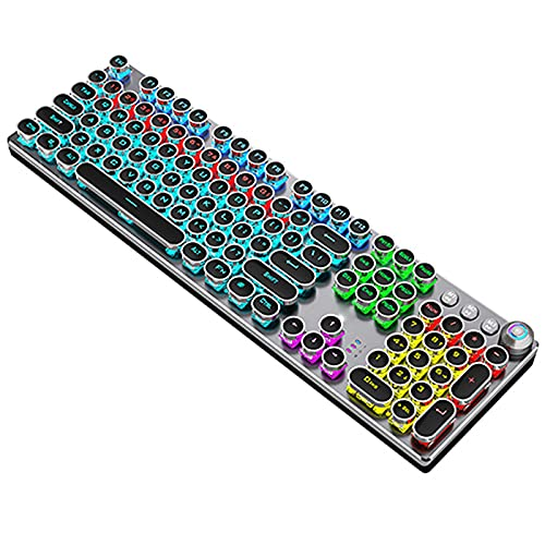 White Mechanical Keyboard 104 Keys Backlit Gaming Keyboards for Computer PC Gamer Russian Spanish Hebrew Arabic