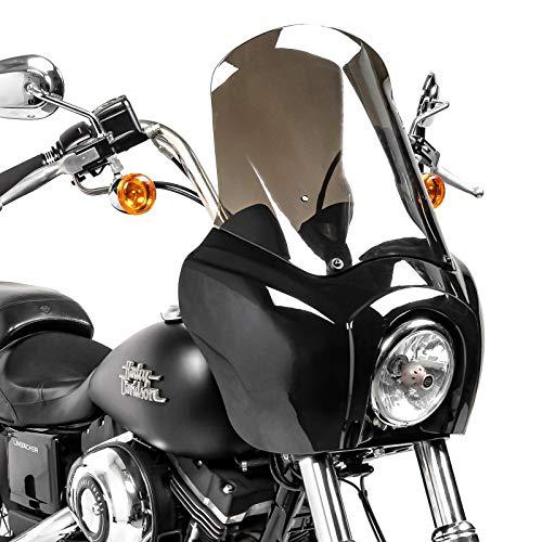 Carena MG5 per Harley Dyna Low Rider S 16-17 nero-fume chiaro