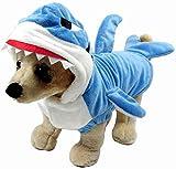 LYYJF Costume amusant de requin pour chien ou chat - Déguisement de requin bleu...