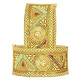 Aheli Ethnische Hochzeit Designer Set von 2 Armband Armreif Kada Paar Indischer Traditioneller Modeschmuck für Frauen - 2 x 6