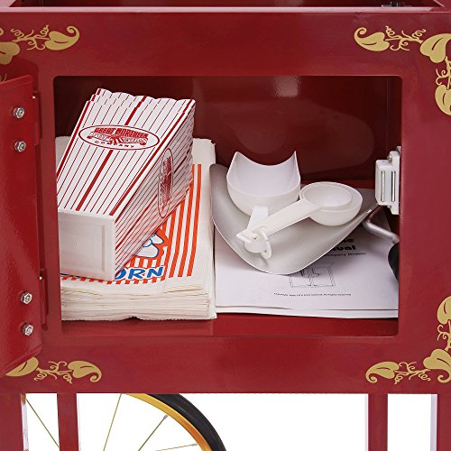 Product Image 4: Great Northern Popcorn Red Matinee Movie 8 oz. Ounce Antique Popcorn Machine and Cart