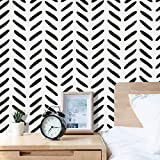 Peel and Stick Wallpaper 17.71''×157.4'' Black and White Wallpaper Modern Self Adhesive Home Decoration Removable Vinyl Film Contact Paper for Bathroom Laundry Room