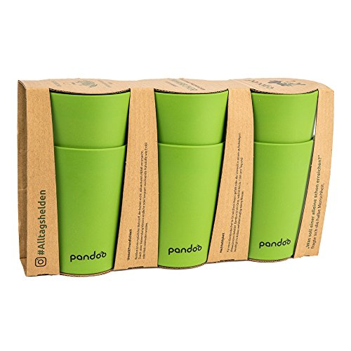 pandoo Bambus Trinkbecher 6er-Set - BPA-frei &...