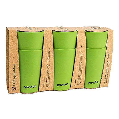 Set de 6 vasos verdes de bambú