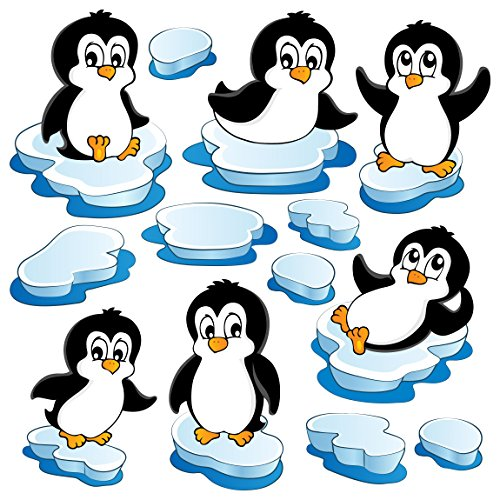 Apalis Fenstersticker Fensterfolie Fensterbild Pinguin Set 40 x 40cm