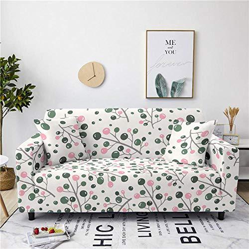 Alayth Cubierta Sofa con Cuerda De Fijación Funda Antideslizante para Sofá Funda para Sofá Funda De Licra Universal para Funda De Sofá Elástica-3-Seater_Color2