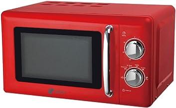Artrom MM-720RML - Microondas retro, 700 W, color rojo