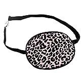 Pink Leopard Print Adjustable Adult Silk Sleep Eye Patch For Lazy Eye Amblyopia Treatment